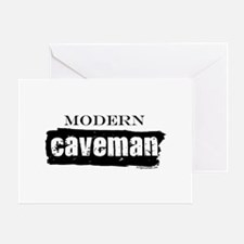 Modern caveman, paleo Greeting Card