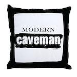 Modern caveman, paleo Throw Pillow