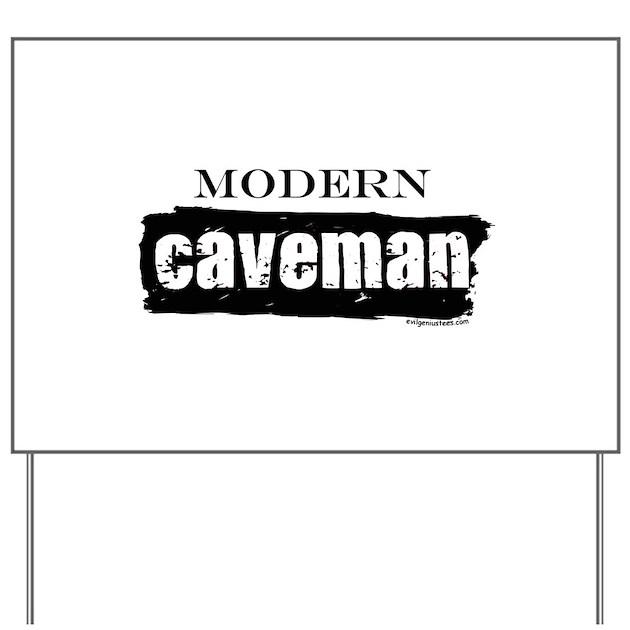 Husker Caveman Signs : Modern caveman paleo yard sign by evilgeniusstore