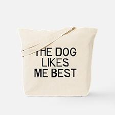 The Dog Likes Tote Bag