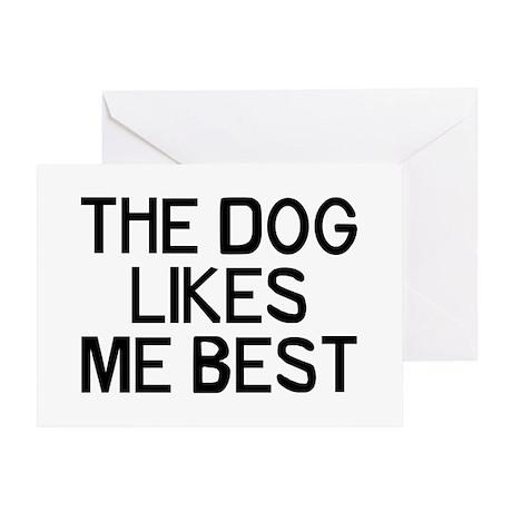 The Dog Likes Greeting Card