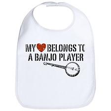 My Heart Banjo Player Bib