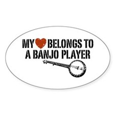 My Heart Banjo Player Decal