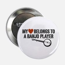 "My Heart Banjo Player 2.25"" Button"