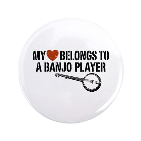 "My Heart Banjo Player 3.5"" Button"