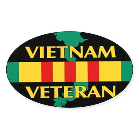 Vietnam Veteran Sticker (Oval)