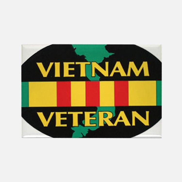 Vietnam Veteran Rectangle Magnet