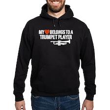 My Heart Trumpet Player Hoody