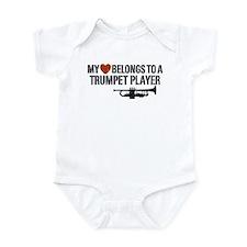My Heart Trumpet Player Infant Bodysuit