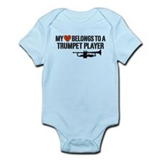 My Heart Trumpet Player Onesie