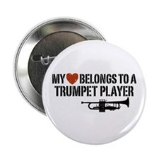 "My Heart Trumpet Player 2.25"" Button"