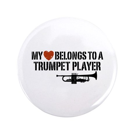 "My Heart Trumpet Player 3.5"" Button"