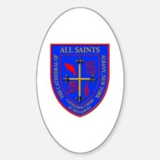 Cute All saints cathedral Sticker (Oval)