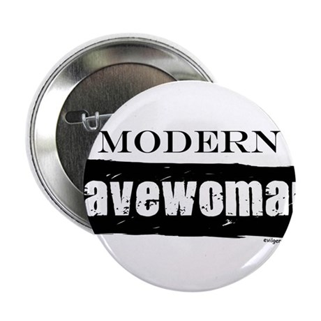 "Modern cavewoman, paleo 2.25"" Button (10 pack)"