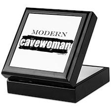 Modern cavewoman, paleo Keepsake Box