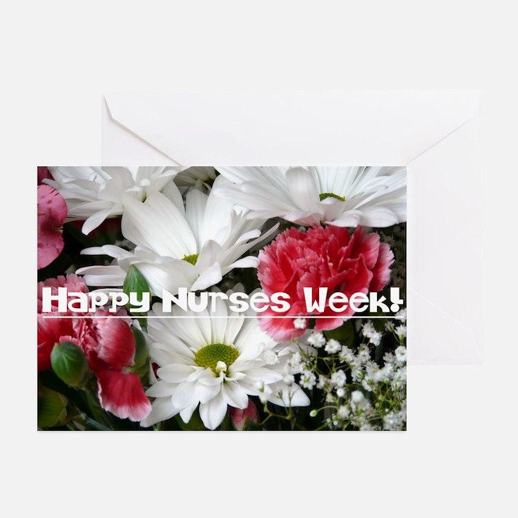 Happy Nurses Week!-Floral Greeting Cards (pk Of 20