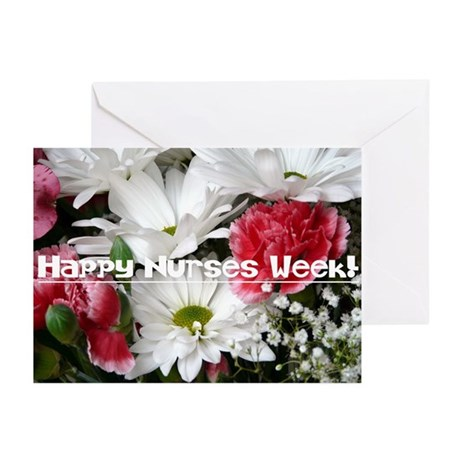 Happy Nurses Week!-Floral Greeting Cards (Pk of 10
