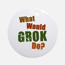 What would Grok do, color Ornament (Round)
