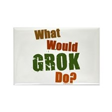 What would Grok do, color Rectangle Magnet