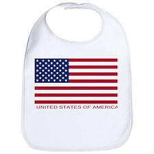 American Flag (labeled) Bib