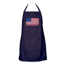 American Flag (labeled) Apron (dark)