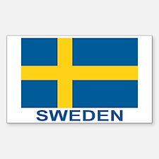 Swedish Flag (w/title) Decal