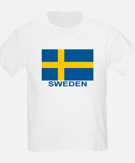 Swedish Flag (w/title) T-Shirt