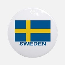 Swedish Flag (w/title) Ornament (Round)