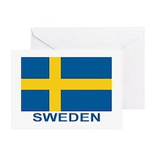 Swedish Flag (w/title) Greeting Card