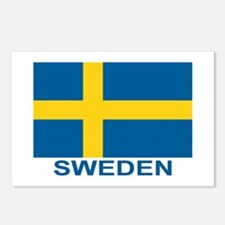 Swedish Flag (w/title) Postcards (Package of 8)