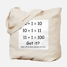 Binary Humor Tote Bag