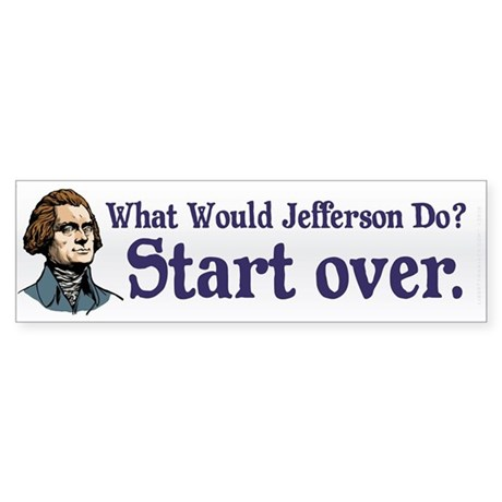 Jefferson Start Over Sticker (Bumper)