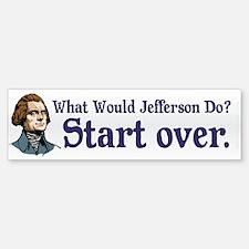 Jefferson Start Over Sticker (Bumper)