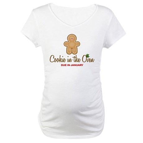 Funny Due In January Maternity Shirts