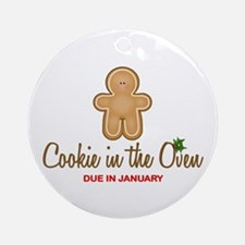 Due January Cookie Ornament (Round)