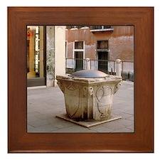 Italy Framed Tile: <br> Italian well