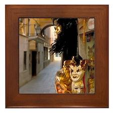 Framed Tile: <br>Venetian masks