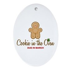 Due March Cookie Ornament (Oval)