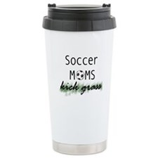 Soccer Moms Kick Grass Travel Mug