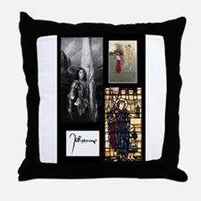 Unique Joan of arc Throw Pillow