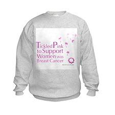 Tickled Breastcancer.org Kids Sweatshirt