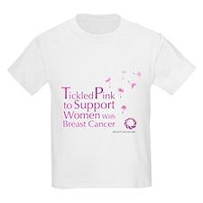 Tickled Breastcancer.org Kids Light T-Shirt