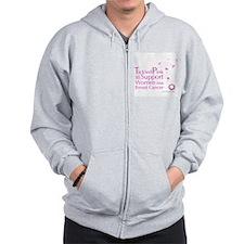 Tickled Breastcancer.org Zip Hoodie