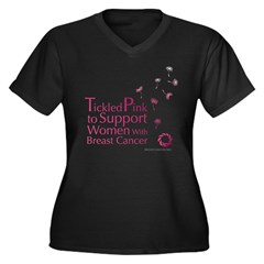 Tickled Breastcancer.org Women's Plus Size V-Neck