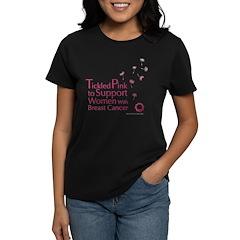 Tickled Breastcancer.org Women's Dark T-Shirt