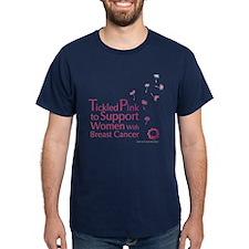 Tickled Breastcancer.org Dark T-Shirt
