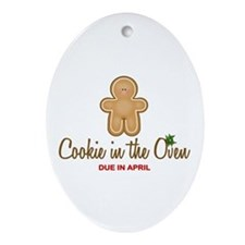 Due April Cookie Ornament (Oval)