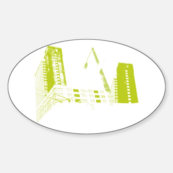 Urban Chillout Sticker (Oval)