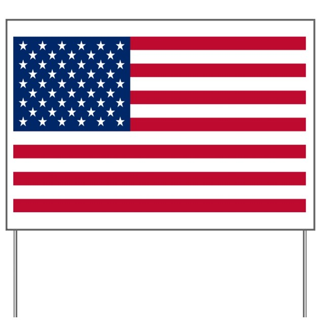 American Flag Yard Sign by intlcarstickers