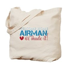 We Made it Airman Tote Bag
